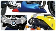 BMW R1200S & HP2 Sport Carbon, GFK