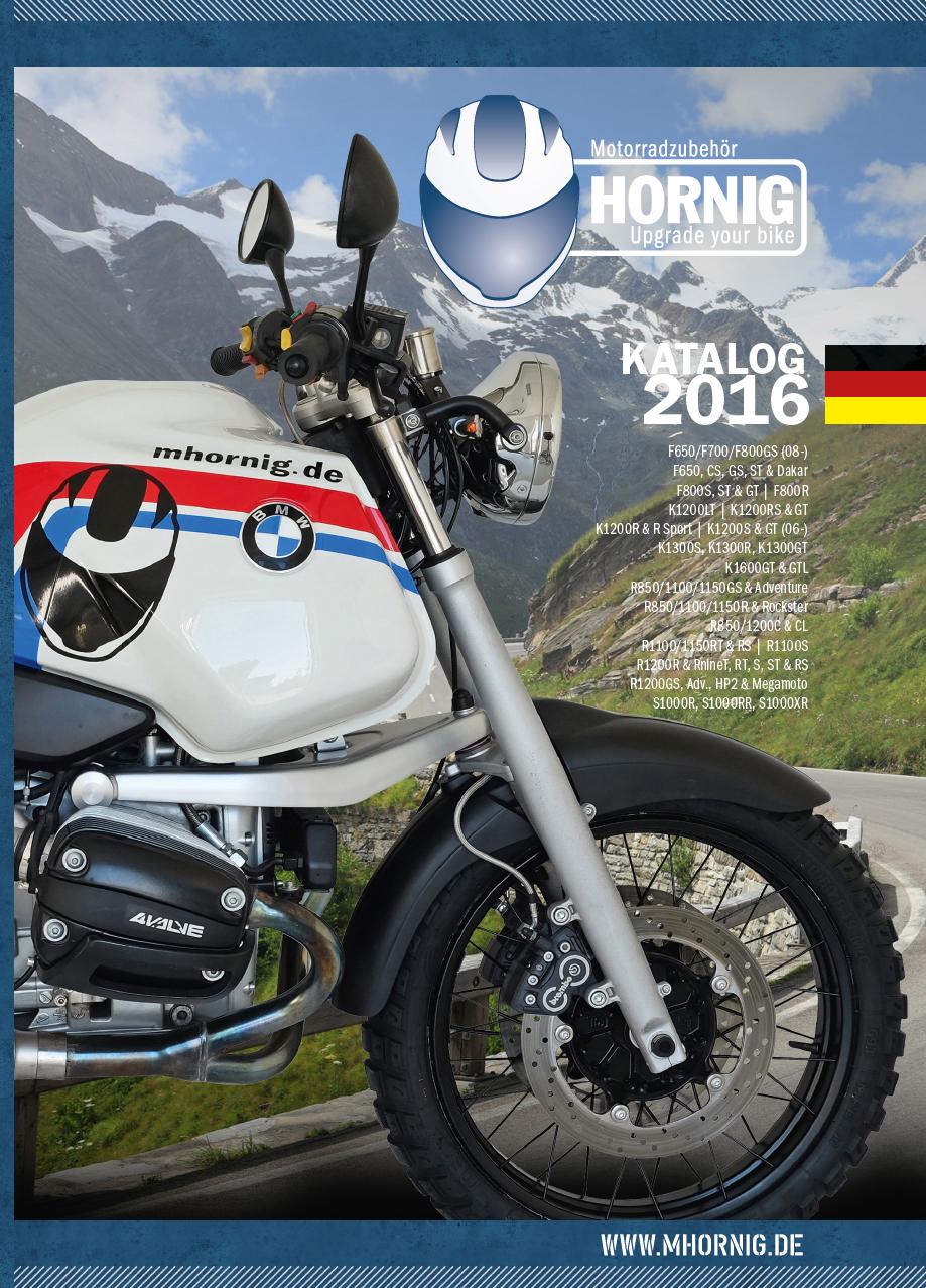 Neuer katalog f r bmw motorradzubeh r von hornig jetzt for Neuer weltbild katalog