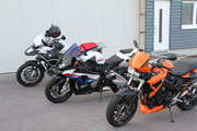 BMW S1000RR, BMW F800R, BMW R1200GS Adventure